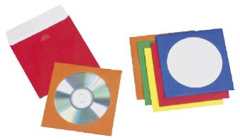 CD/DVD-Hüllen Papier farb.sort.50St