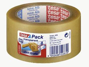 Tesa-Packband transparent 66x50