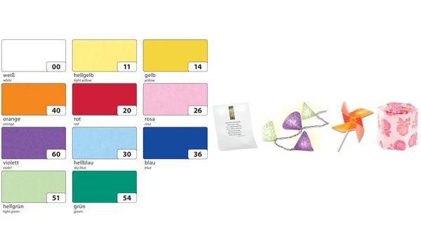 FOLIA Transparent papier continu 505x700mm 115g//qm Violet Bastelpapier Bricolage