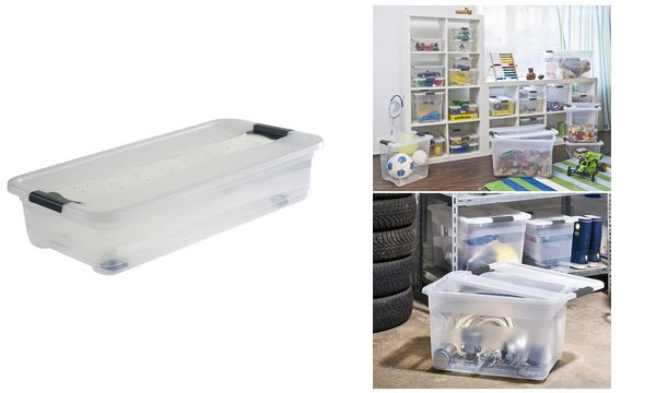 keeeper aufbewahrungsbox konrad mit rollen 33 liter ebay. Black Bedroom Furniture Sets. Home Design Ideas