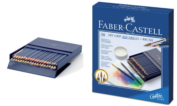 faber castell buntstifte art grip aquarelle 38er. Black Bedroom Furniture Sets. Home Design Ideas