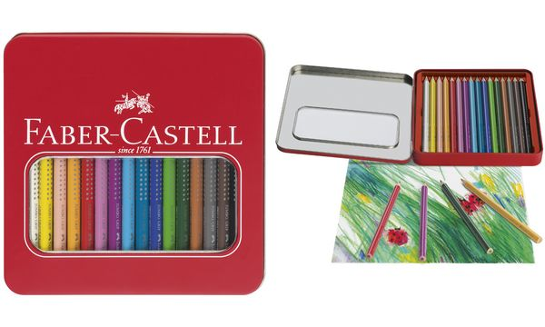 faber castell dreikant buntstifte jumbo grip 16er etui ebay. Black Bedroom Furniture Sets. Home Design Ideas