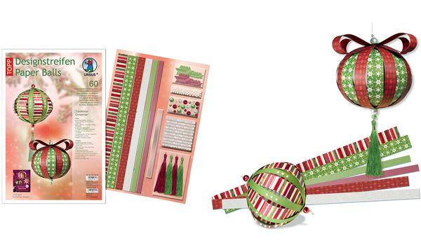Ursus designstreifen paper balls weihnachten deko bastelset kinderzimmer m rchen ebay - Bastelset weihnachten ...
