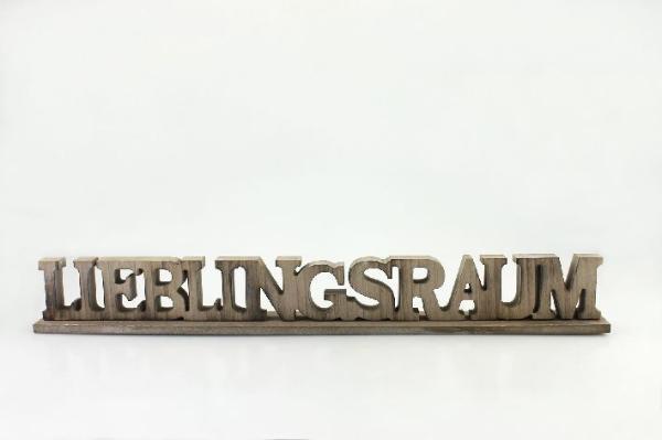 Deko holzaufsteller schriftzug buchstaben wohnen for Buchstaben holz deko