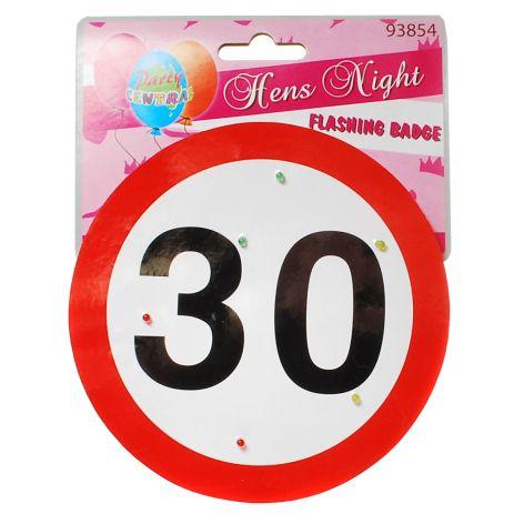 Geschenkartikel 30 Geburtstag Verkehrsschild 30 Party Deko