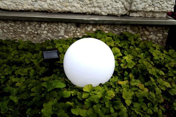 led solar kugel gartenleuchte gartenlampe kugelform terrasse rattan leuchtkugel ebay. Black Bedroom Furniture Sets. Home Design Ideas