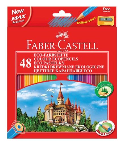 faber castell hexagonal buntstifte 48er kartonetui. Black Bedroom Furniture Sets. Home Design Ideas