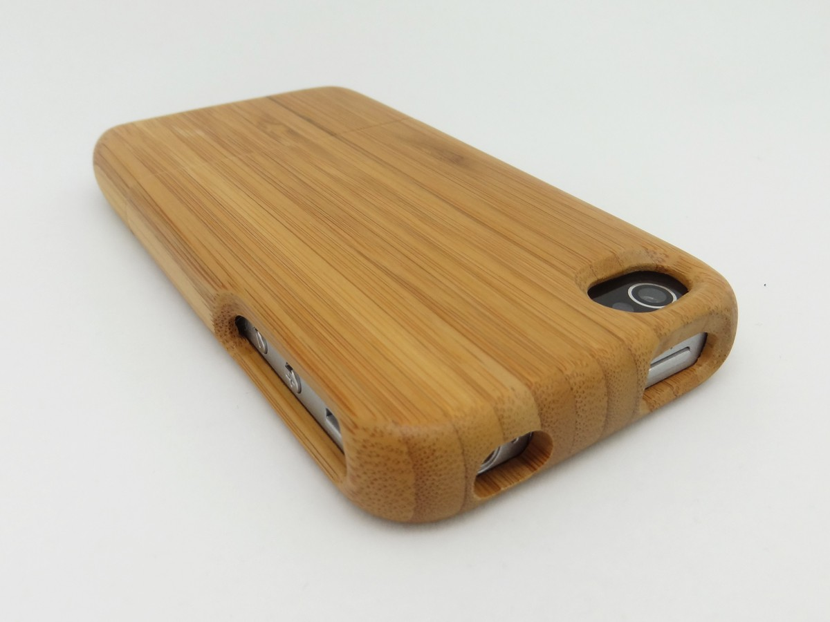 bamboo cover f r iphone 4 echt holz cover h lle aus bambus holz f r iphone 4 ebay. Black Bedroom Furniture Sets. Home Design Ideas