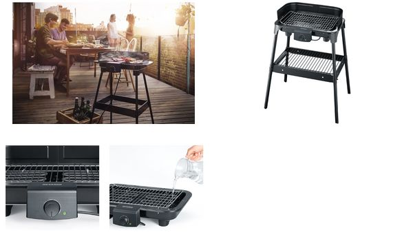 Severin Elektrogrill Pg 8532 : Severin barbecue standgrill pg 8532 2500 watt schwarz ebay