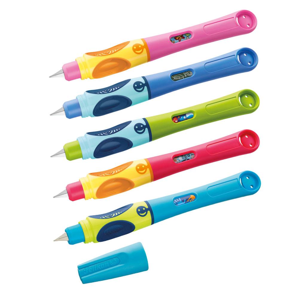 Linkshänder Pelikan Twist Tintenroller Tintenschreiber grün orange für Rechts u