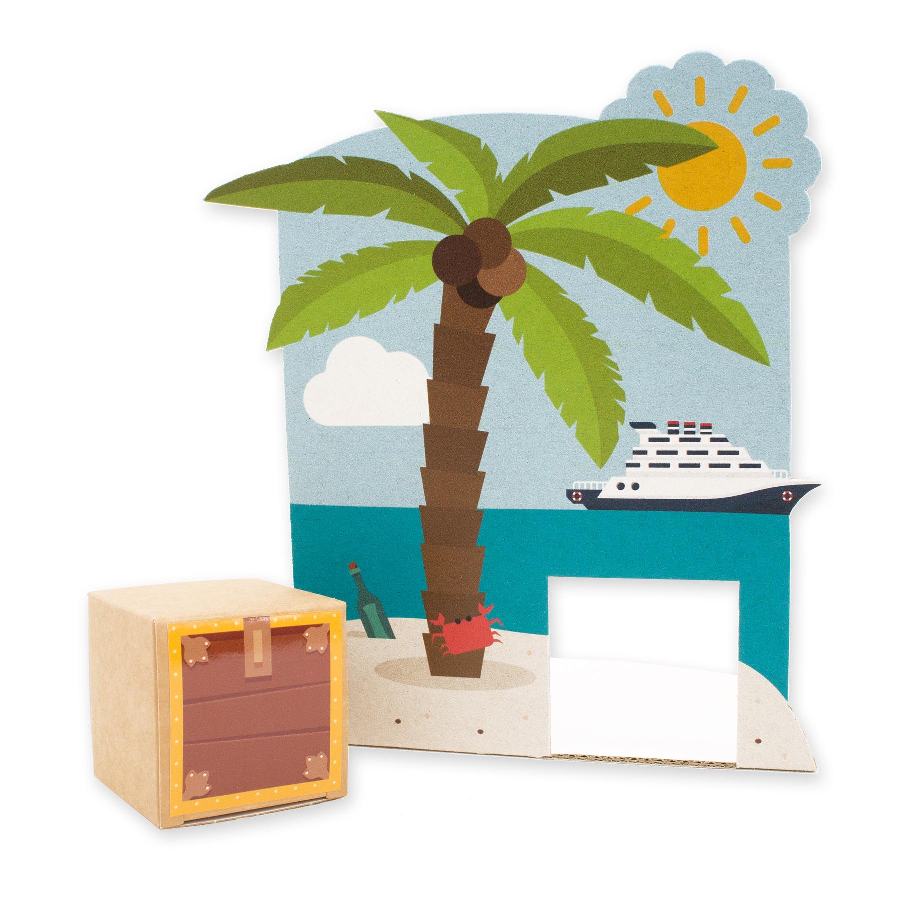 itenga Geldgeschenkverpackung Insel mit Schatztruhe