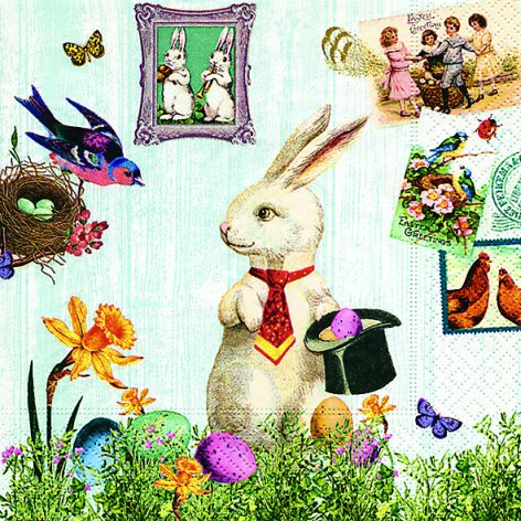 Paper+Design Oster-Cocktailservietten Magic Easter rabbit