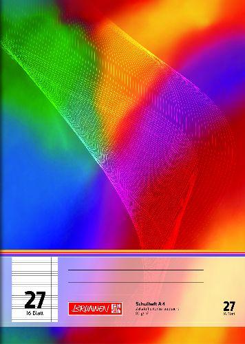 #4x BRUNNEN Schulheft A4 Lineatur 27 - 16 Blatt 80g/m²