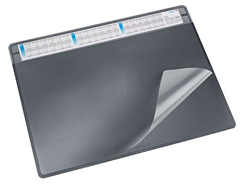 Läufer Schreibunterlage Durella Soft schwarz Klarsichteinlage 3-Jahreskalender