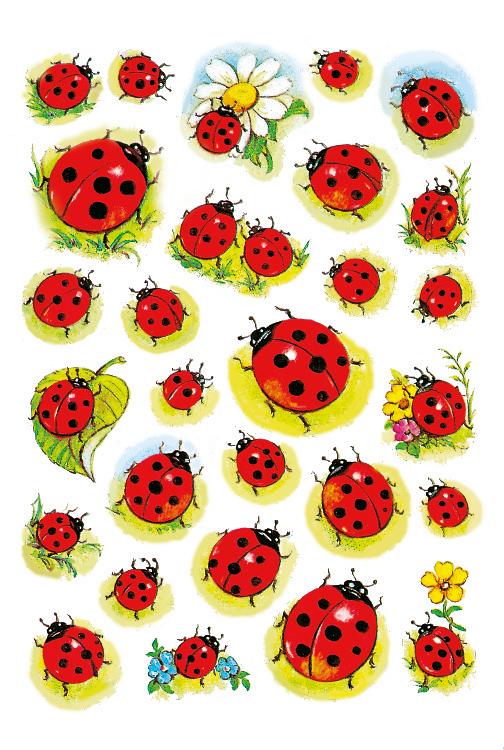 HERMA Sticker DECOR Marienkäfer und Blume