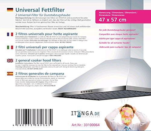 itenga Universal Dunstfilter 2er Pack