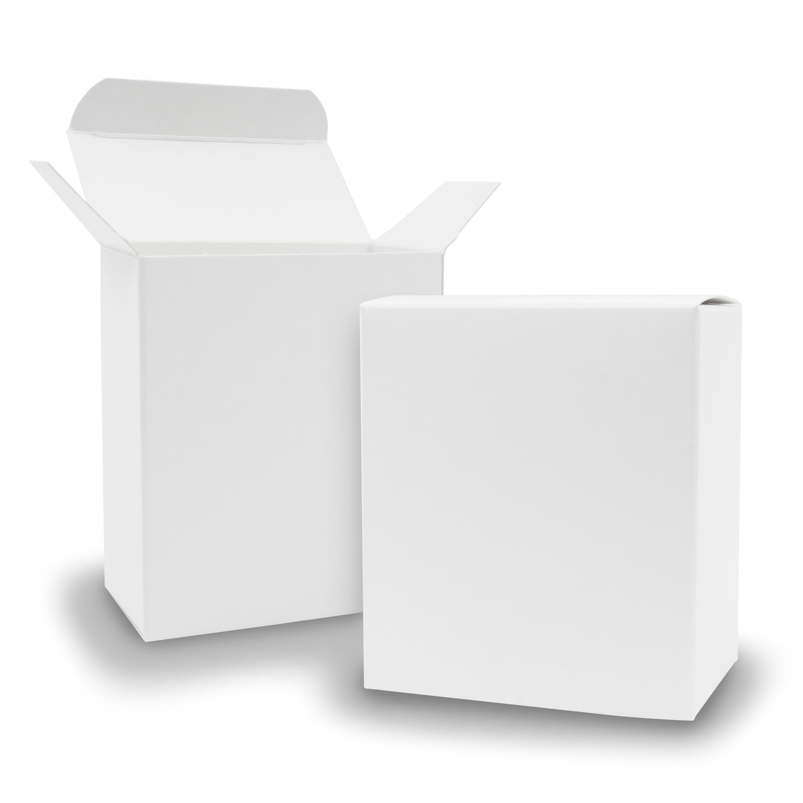 25x itenga Quader Faltschachtel aus Karton 8x4x9cm weiß ...