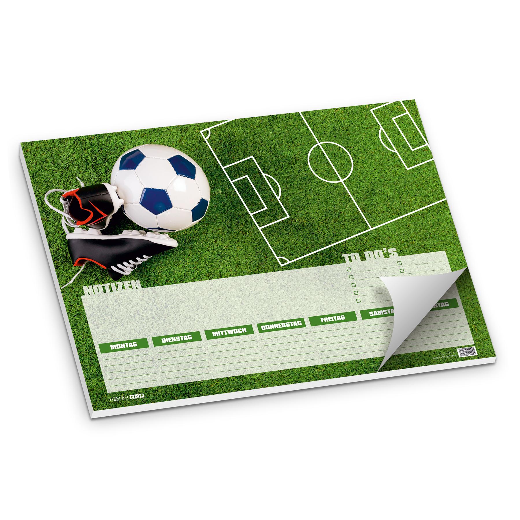 Itenga Schreibtischunterlage Fussball Din A3 50 Blatt