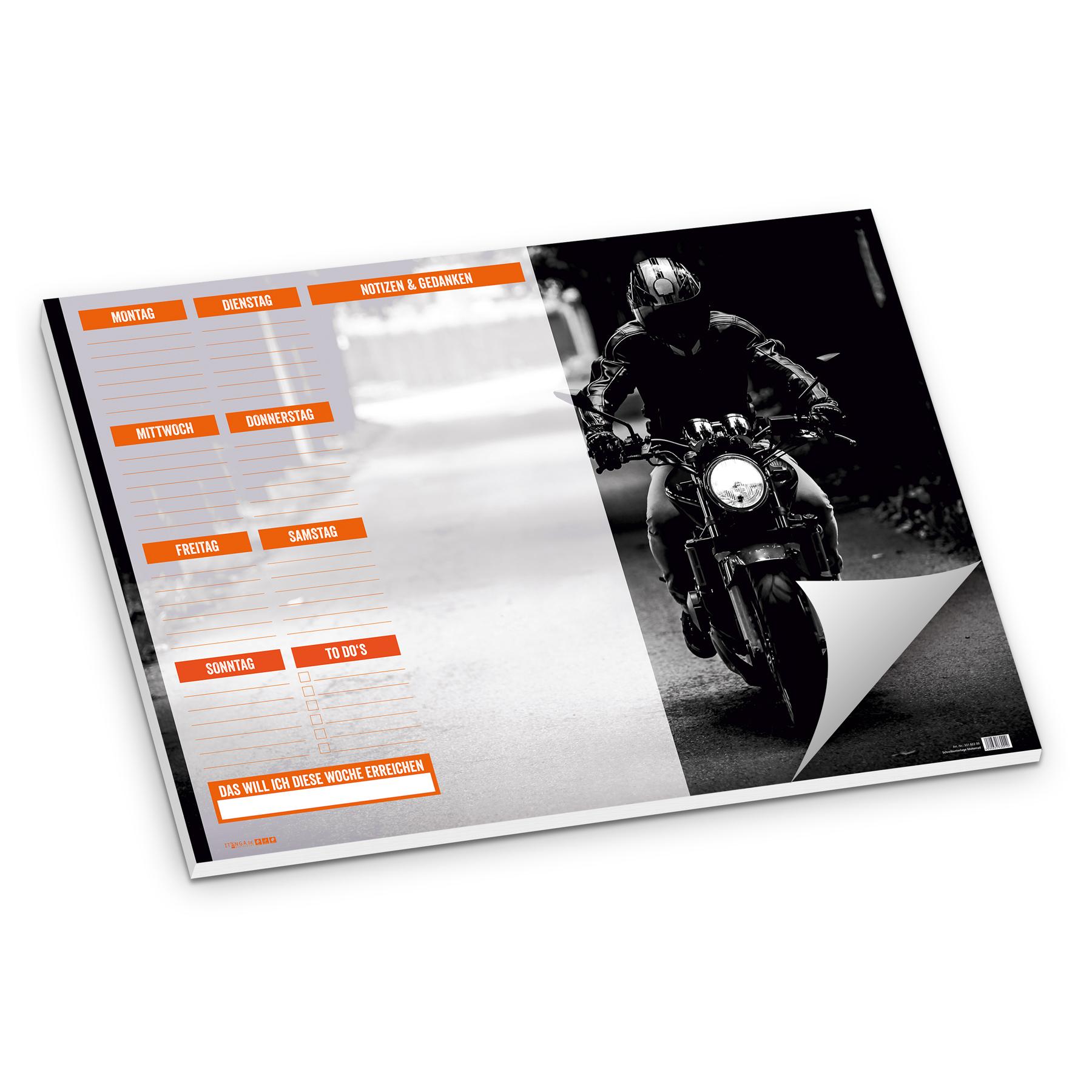 itenga Schreibtischunterlage Motorrad Straße DIN A2 50 B...