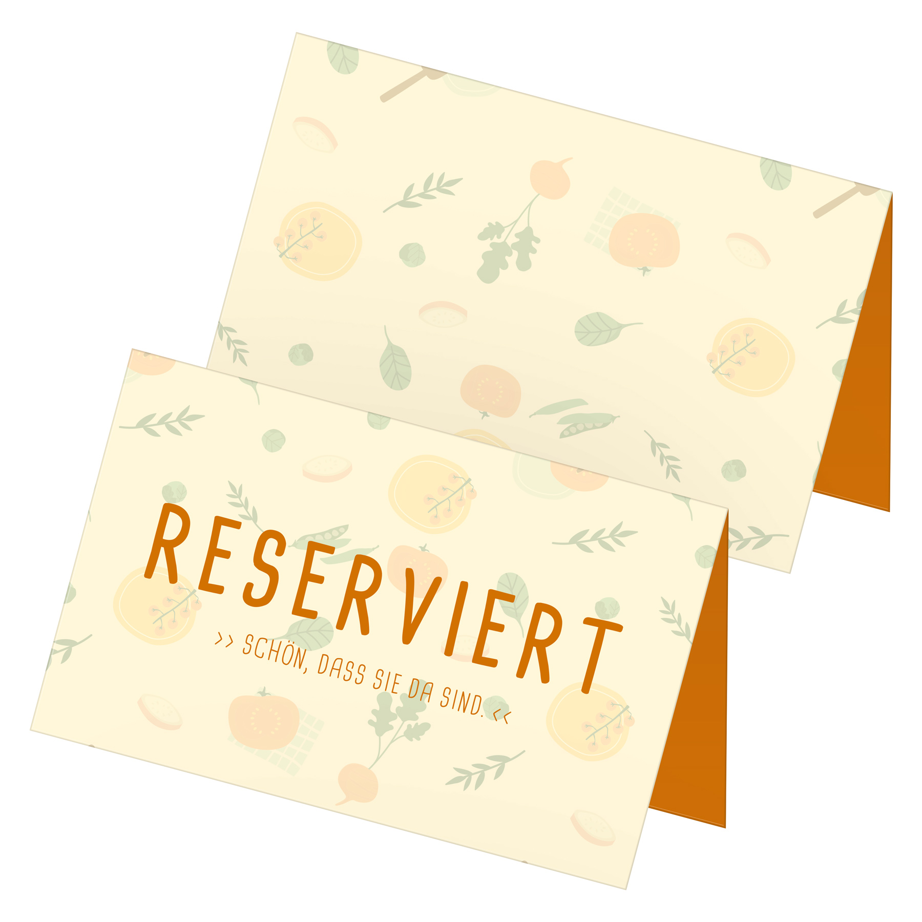 itenga 24x Tischkarten Reserviert Pastelltöne Veggie V...