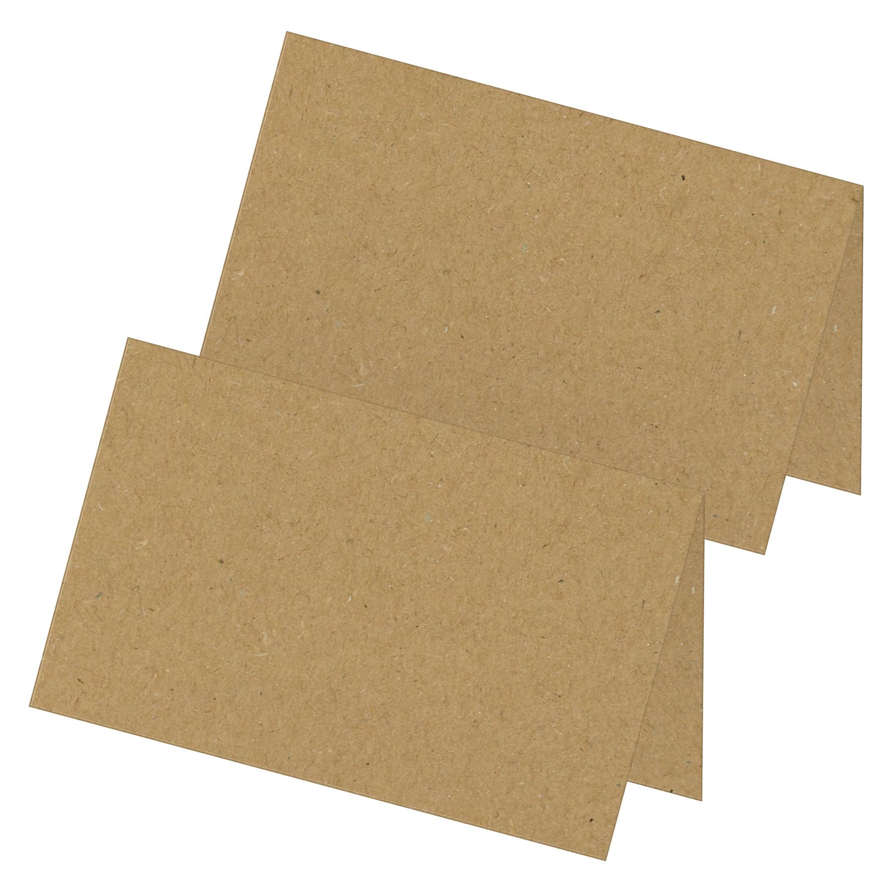 itenga 24x Tischkarten Neutral Braun Kraftpapierstruktur...