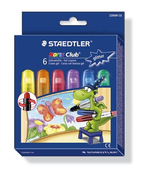 #5xWachs-Kreide Gel-Twister Metallic 6Er-Set 2390Mc6 Nor...
