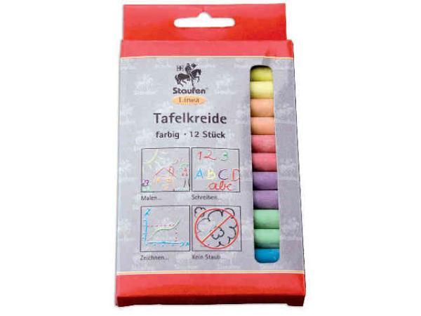 Tafelkreide farbig sortiert 12 Stück