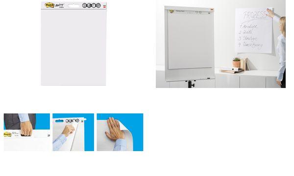 Post-it Meeting Charts Block, 635 x 762 mm, weiß, 2+1 GR...