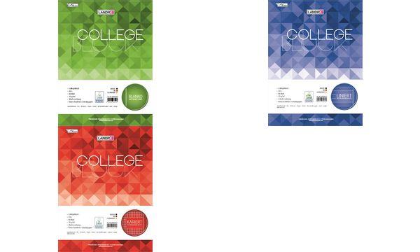 LANDRÉ Collegeblock college DIN A4, kariert, 80 Blatt