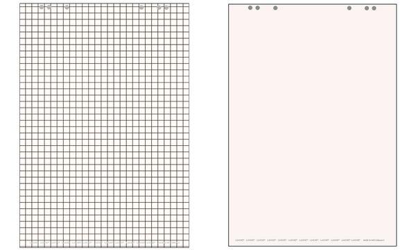 #5xLANDRÉ Flip-Chart-Block, 20 BLatt, kariert, 680 x 990 mm