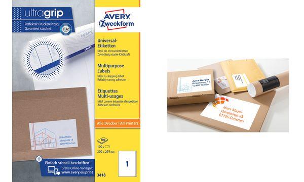 AVERY Zweckform Universal-Etiketten, 97 x 55 mm, weiß