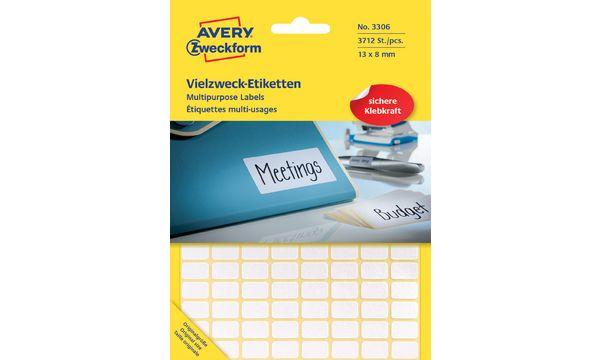 AVERY Zweckform Vielzweck-Etiketten, 38 x 14 mm, weiß, FP