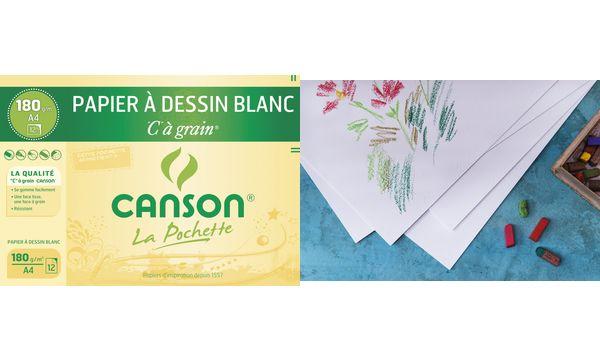 CANSON Zeichenpapier C à Grain, DIN A4, 125 g/qm