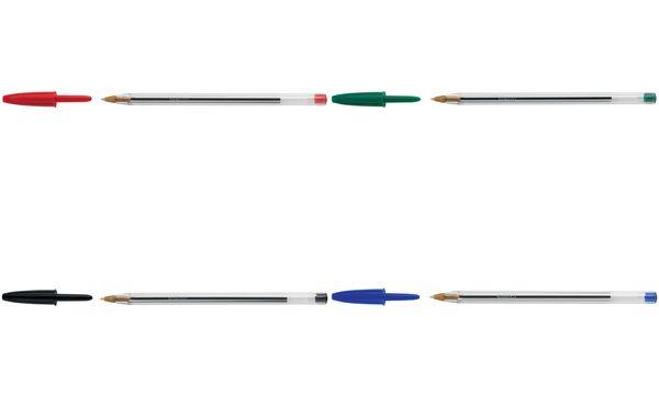 BIC Kugelschreiber Cristal Original, Strichfarbe: rot