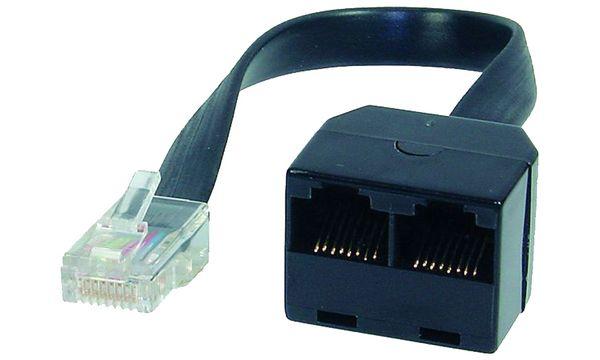 shiverpeaks BASIC-S ISDN Y-Adapter, schwarz, 0,1 m
