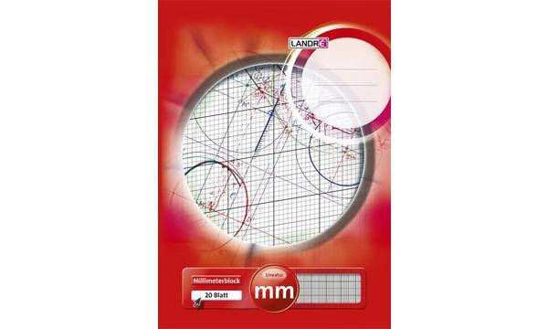 LANDRÉ Millimeterpapier-Block DIN A4, 25 Blatt, 80 g/qm