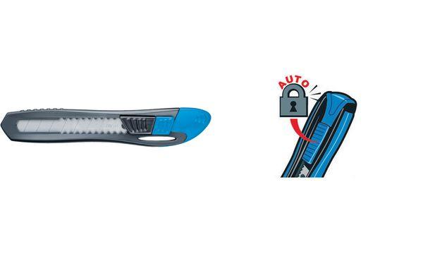 Maped Cutter Universal Kunststoff, Klinge 9 mm, sortiert