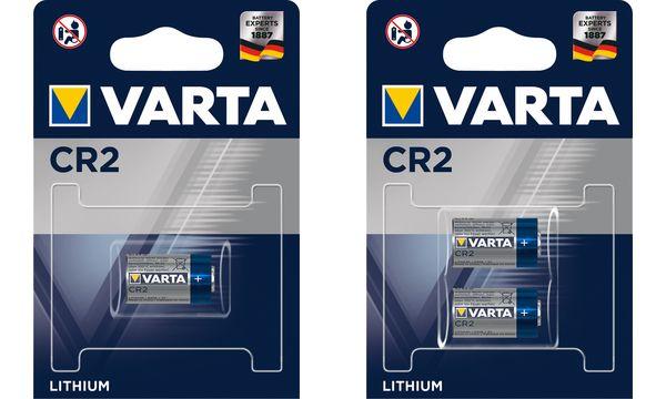VARTA Foto-Batterie LITHIUM, CR2, 3,0 Volt, 2er Blister