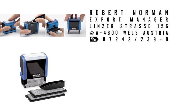 trodat Textstempelautomat Typo Printy Set 4913, 5 Zeilen