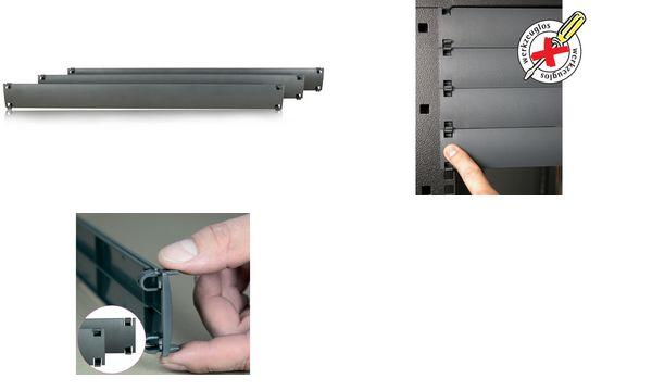 apranet 19-Blindplatte 1 HE, Kunststoff, RAL7035 lichtgrau