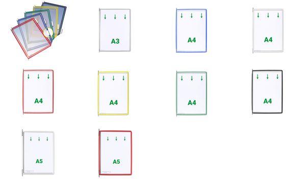 """DIN A4 #5xtarifold tdisplay Sichttafel /""""Design/"""" blau PP"""