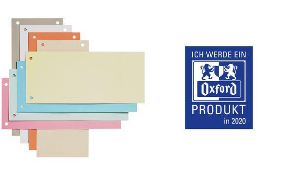 Oxford Trennstreifen, aus Karton, passend für DIN A4, weiß