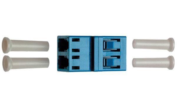 Telegärtner LWL Kupplung 2xLC-Duplex, Multimode OM3, türkis