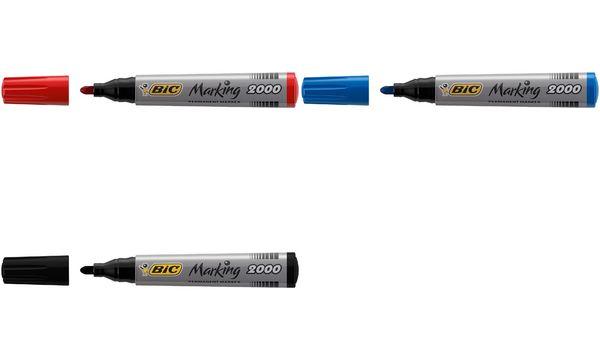 BIC Permanent-Marker Marking 2000 Ecolutions, schwarz