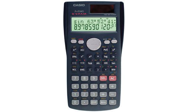 CASIO Schulrechner FX-85 MS, Solarbetrieb-/ Batteriebetrieb