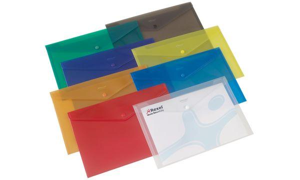 #6xRexel Dokumententasche Folder, DIN A4, farbig sortiert
