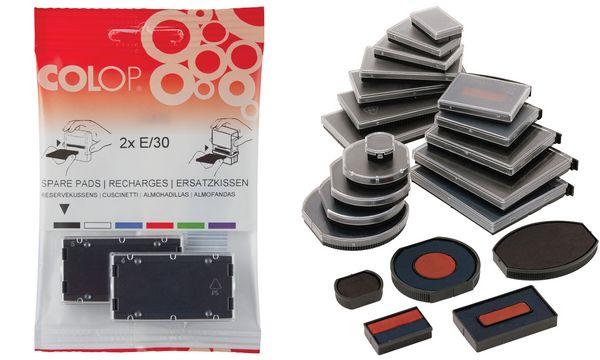 COLOP Ersatzstempelkissen E/54, schwarz, Doppelpack