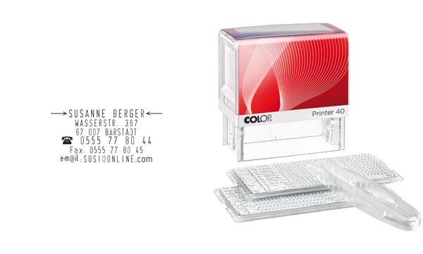 COLOP Textstempelautomat D-I-Y Sets Printer 40/2 Set