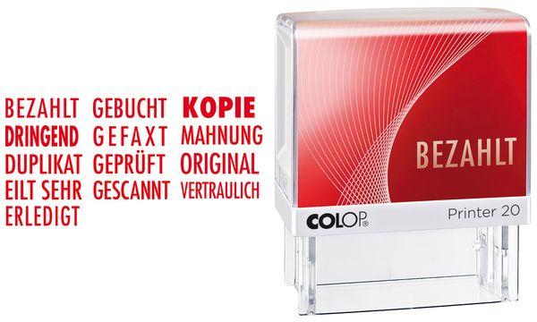 COLOP Textstempel Printer 20 ORIGINAL, mit Textplatte