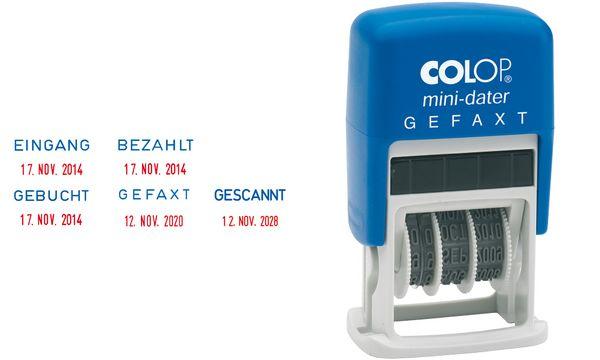 COLOP Datumstempel Mini Dater S160 L2 BEZAHLT